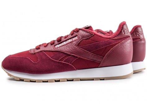 Chaussures Reebok Classic Leather Essential rouge vue extérieure