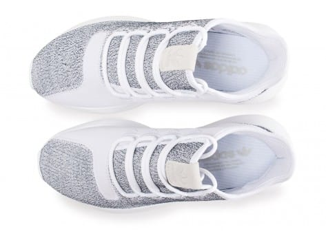 Chaussures adidas Tubular Shadow blanche vue arrière