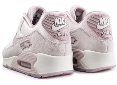 Chaussures Nike Air Max 90 velours rose vue dessous