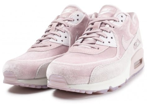 Chaussures Nike Air Max 90 velours rose vue intérieure