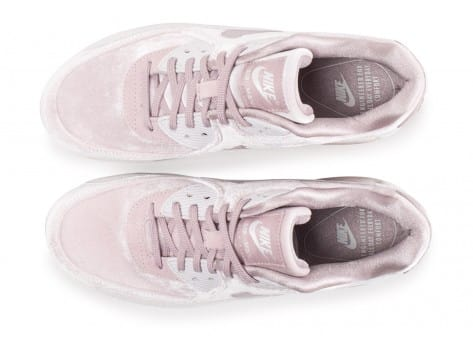 Chaussures Nike Air Max 90 velours rose vue arrière