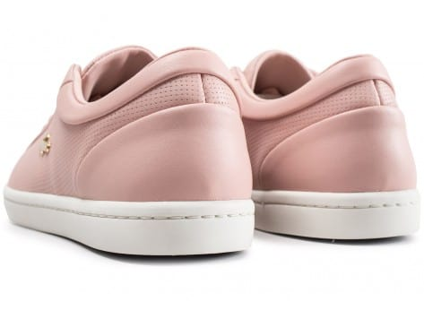 Chaussures Lacoste Straightset rose clair vue dessous