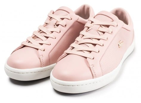 Chaussures Lacoste Straightset rose clair vue intérieure