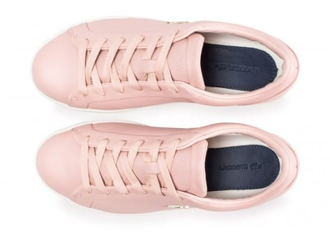 Chaussures Lacoste Straightset rose clair vue arrière