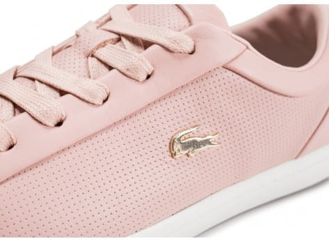 Chaussures Lacoste Straightset rose clair vue dessus