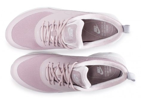 Chaussures Nike Air Max Thea  LX rose et blanche vue arrière