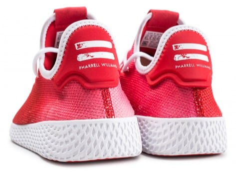 Chaussures adidas Tennis Hu Holi rouge vue dessous