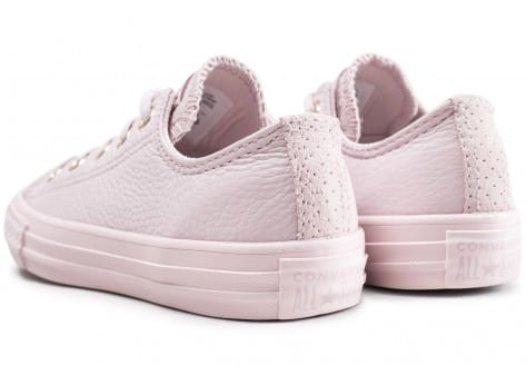 Chaussures Converse Chuck Taylor All Star OX enfant rose vue dessous
