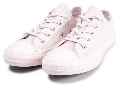 Chaussures Converse Chuck Taylor All Star OX enfant rose vue intérieure