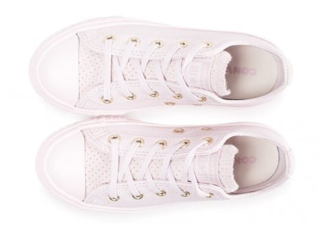 Chaussures Converse Chuck Taylor All Star OX enfant rose vue arrière