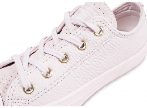 Chaussures Converse Chuck Taylor All Star OX enfant rose vue dessus