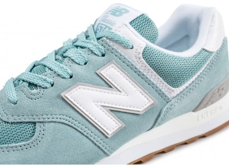 Chaussures New Balance WL574ESY bleu turquoise vue dessus