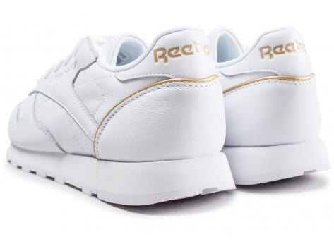 Chaussures Reebok Classic Leather HW blanc vue dessous
