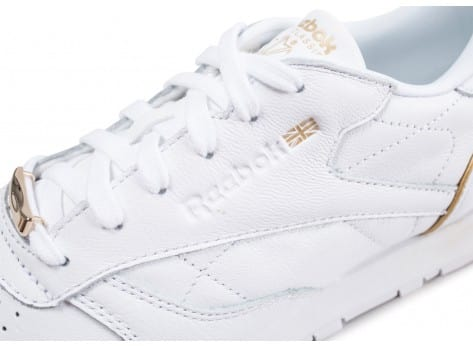 Chaussures Reebok Classic Leather HW blanc vue dessus