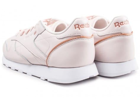 Chaussures Reebok Classic Leather HW rose vue dessous