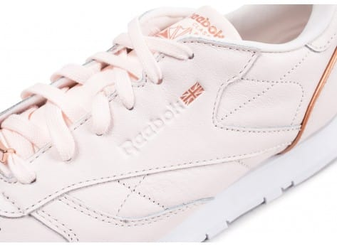 Chaussures Reebok Classic Leather HW rose vue dessus