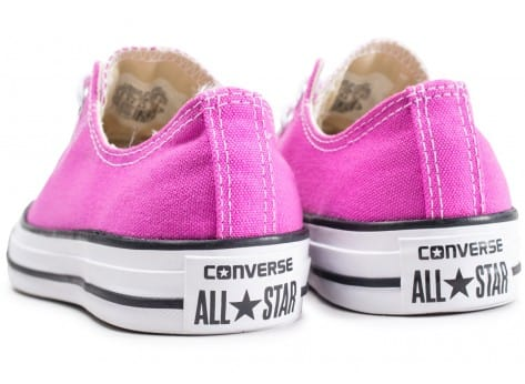 Chaussures Converse Chuck Taylor All Star Low rose fuschia vue dessous