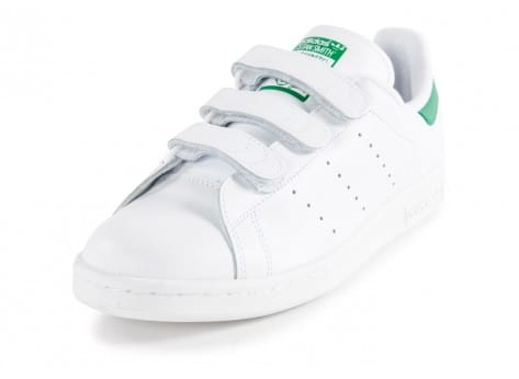 Chaussures adidas Stan Smith CF Velcro blanche vue avant