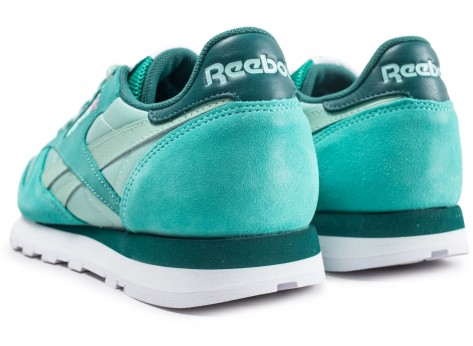 Chaussures Reebok Classic Leather Montana Cans Color System Verte vue dessous