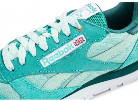 Chaussures Reebok Classic Leather Montana Cans Color System Verte vue dessus