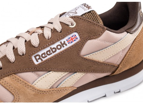 Chaussures Reebok Classic Leather Montana Cans Color System marron vue dessus