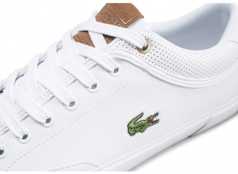 Chaussures Lacoste Angha Lea blanche vue dessus