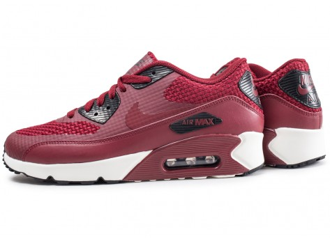 Nike Air Max 90 Ultra bordeaux - Chaussures Baskets homme - Chausport