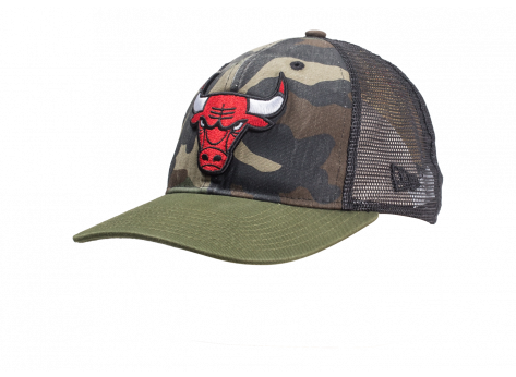 Casquettes New Era Casquette 9/50 Trucker Chicago bulls washed camo