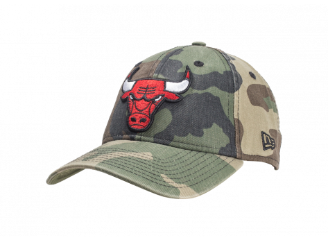 Casquettes New Era Casquette 9/40 Washed Chicago Bulls