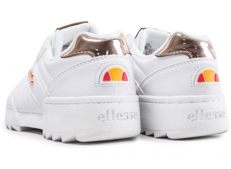 Chaussures Ellesse Plativo Low full white vue dessous