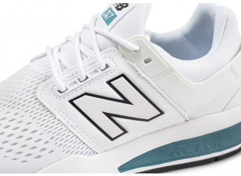Chaussures New Balance MS247TW blanche  vue dessus