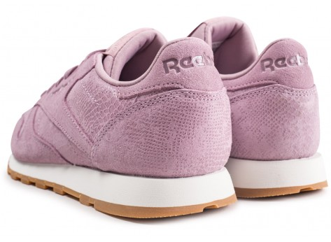 Chaussures Reebok Classic Leather lila femme vue dessous
