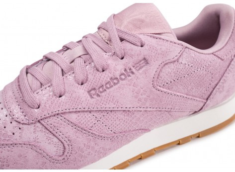 Chaussures Reebok Classic Leather lila femme vue dessus