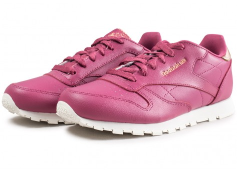 Chaussures Reebok Classic Leather rouge junior vue intérieure