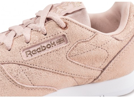 Chaussures Reebok Classic Leather rose gold enfant vue dessus