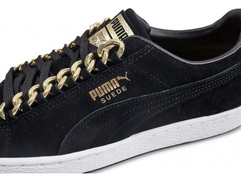 Chaussures Puma Suede Classic X Chains gold vue dessus