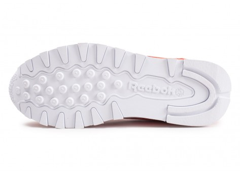 Chaussures Reebok Classic Leather orange  vue avant