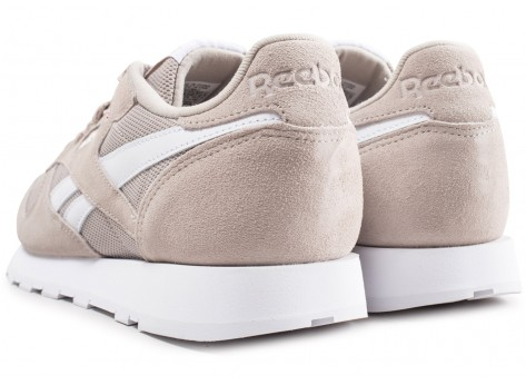 Chaussures Reebok Classic leather beige vue dessous