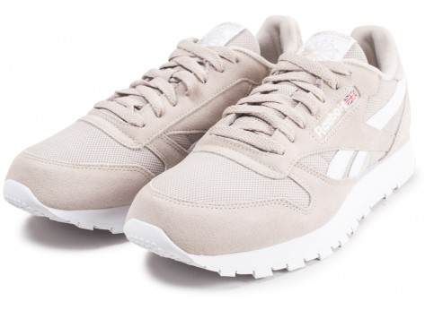 Chaussures Reebok Classic leather beige vue intérieure
