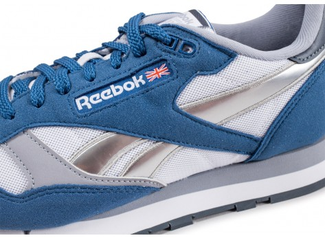 Chaussures Reebok Classic Leather bunker blue vue dessus