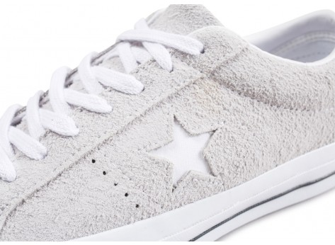 Chaussures Converse One Star gris vue dessus