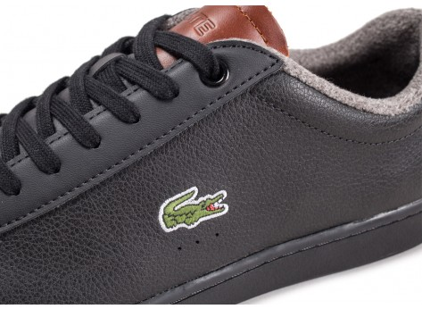 Chaussures Lacoste Carnaby Evo noir vue dessus
