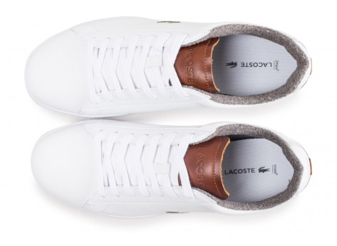 Chaussures Lacoste Carnaby Evo blanche vue arrière