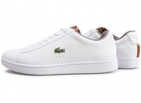 Chaussures Lacoste Carnaby Evo blanche vue extérieure