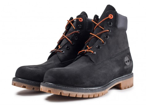 Chaussures Timberland 6-inch Premium boots noires vue intérieure