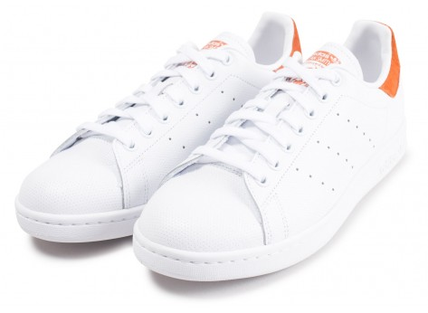 Chaussures adidas Stan Smith blanche et rouge vue intérieure