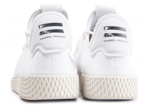 Chaussures adidas Pharrell Williams Tennis Hu triple blanc vue dessous