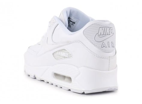 Chaussures Nike Air Max 90 Leather Blanche vue arrière