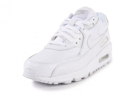 Chaussures Nike Air Max 90 Leather Blanche vue avant