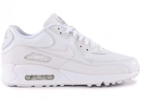 Chaussures Nike Air Max 90 Leather Blanche vue dessous